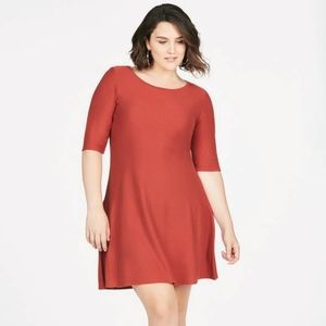 Fit and Flare Sweater Dress